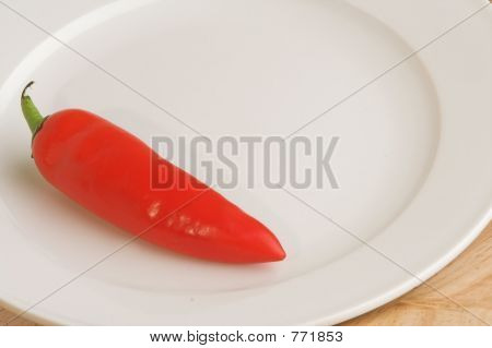chilli pepper on plate