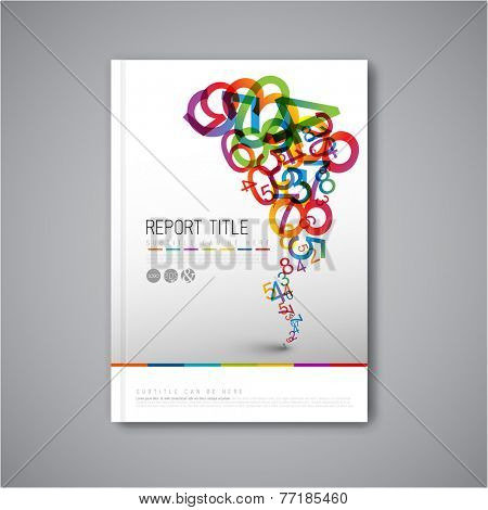 Modern Vector abstract brochure / book / flyer design template with numbers