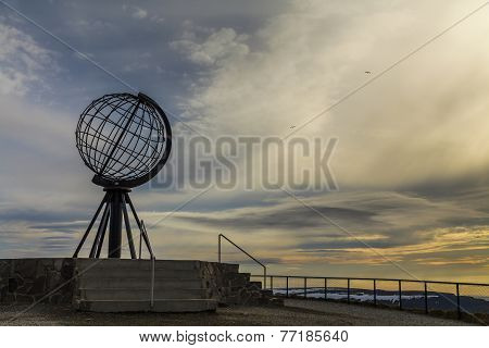 Globe Monument At Nordkapp, The Northern Point Of Europe