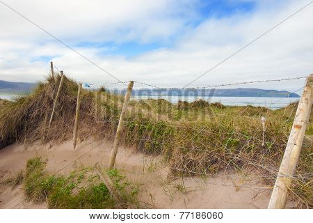 Mesh Wire Fence At The Maharees