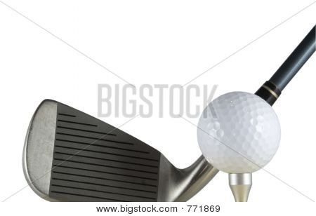 Golf ball and club