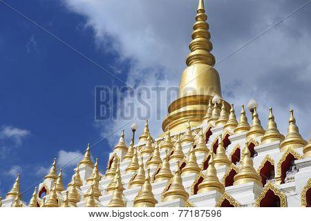 Samphutthe chedi near Wat Mani Phraison, Mae Sot, Tak  province, Thailand.