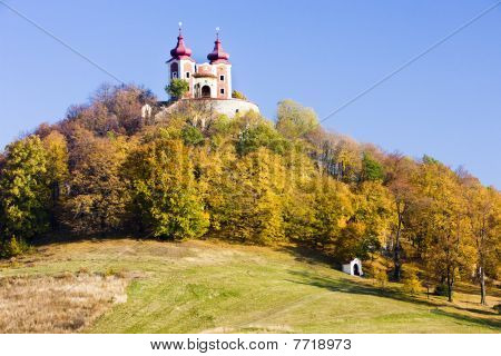 pilgrimage church at Calvary Banska Stiavnica Slovakia
