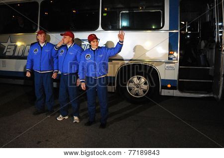 ISS Crew Before Departure