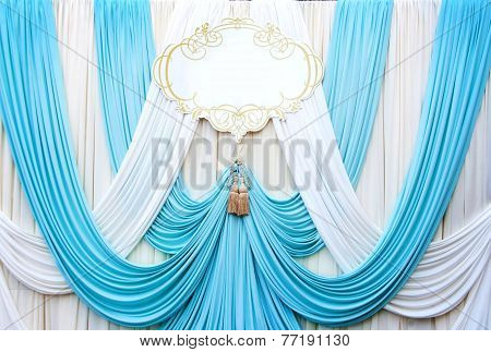 White And Cyans Curtain Backdrop Background