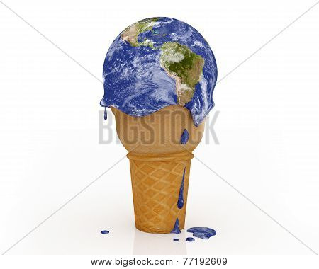 Climate Change - Ice Cream Earth