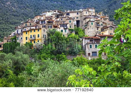 Airole -beautiful small traditional village in ligurian mountain
