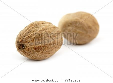 Two Nutmeg Isolated