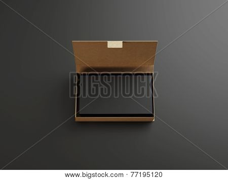 Black Business Cards In The Craft Box