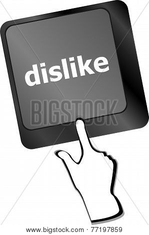 Dislike Key On Keyboard For Anti Social Media Concepts