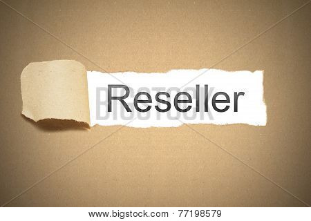 Brown Paper Torn To Reveal Reseller