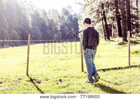 Boy walking