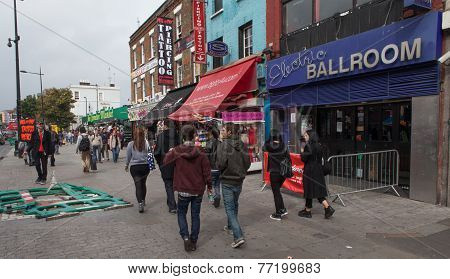 Camden Market, London.