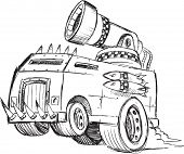 pic of armored car  - Armored Truck Vehicle Sketch Vector Illustration Art - JPG