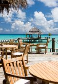 stock photo of kuramathi  - The cozy restaurant in the hotel - JPG