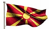 pic of macedonia  - Republic of Macedonia National Flag Isolated 3D White Background - JPG