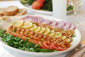 stock photo of ouzo  - turkish kebab served with onion - JPG