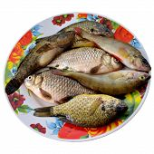 stock photo of fresh water fish  - Fish Appetizer Roach Salt Dry Dinner Delicious Healthy Tail Kitchen Fresh water - JPG