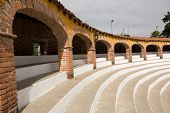 pic of arena  - Mexican bull fighting arena seating area architectural details - JPG