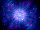 picture of higgs boson  - Blue glowing Higgs boson computer generated abstract background - JPG