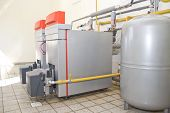 stock photo of boiler  - Gas boilers - JPG