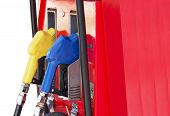 picture of gasoline station  - Fuel pump in the gas station - JPG