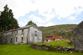 foto of farmhouse  - old abandoned farmhouse in the mountains of county Kerry Ireland - JPG