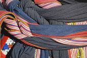 picture of hmong  - Textile detail of Black Miao  - JPG
