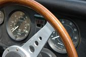 foto of mg  - Vintage car dashboard close up - JPG