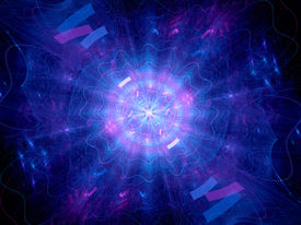 stock photo of higgs boson  - Blue glowing Higgs boson computer generated abstract background - JPG
