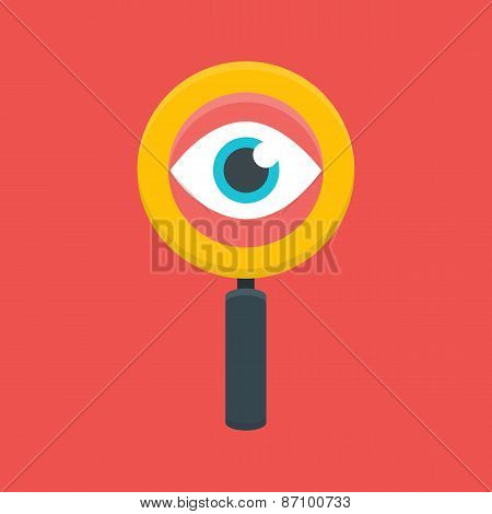 Search Magnifying Glass With Eye