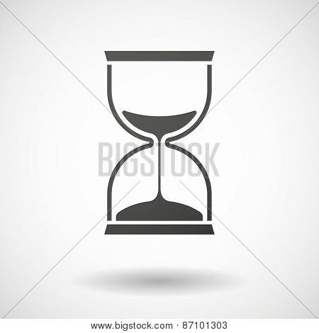 Grey Sand Clock Icon