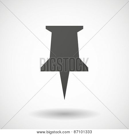Grey Push Pin