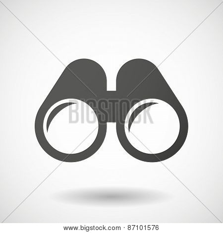 Grey Binoculars Icon