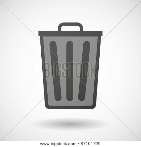 Grey Trash Can Icon