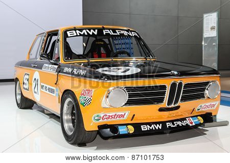 NEW YORK - APRIL 1: BMW exhibit BMW Alpina 2002 ti 1970 model at the 2015 New York International Auto Show during Press day,  public show is running from April 3-12, 2015 in New York, NY.