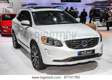 NEW YORK - APRIL 1: Volvo exhibit XC 60 at the 2015 New York International Auto Show during Press day,  public show is running from April 3-12, 2015 in New York, NY.