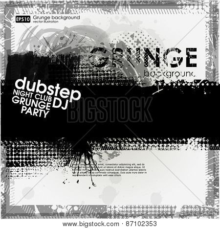 Grunge print for t-shirt. Abstract background. Background for poster in grunge style.  Texture background. Abstract shape