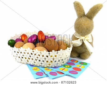 An isolated Easter decoration