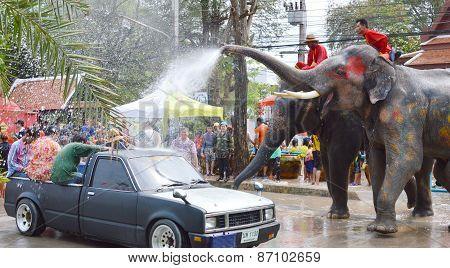 Songkarn festival in Thailand 2013