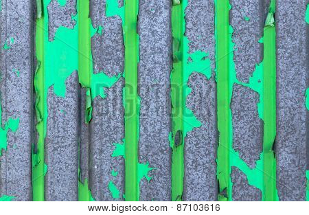 Green Texture Of Metal, Plate