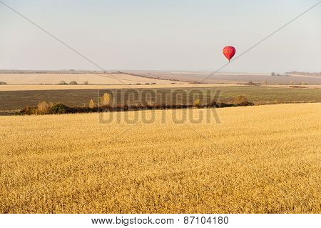 Landscape With Hot Air Balloons