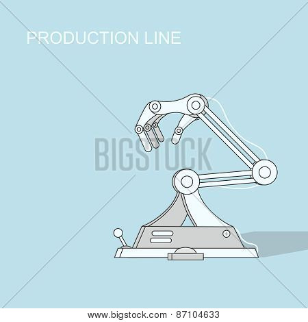 Robotic production line   Manufacturing and machine, automation  industry