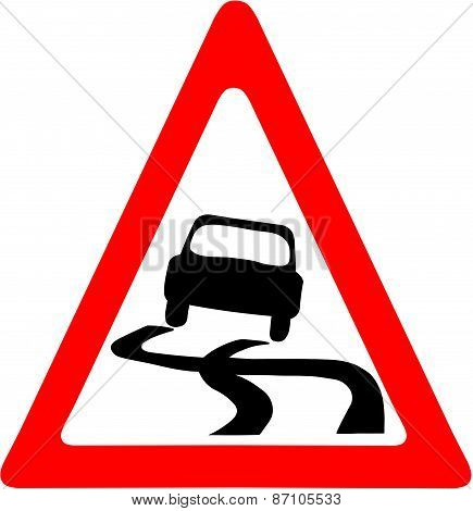Slippery Road Symbol