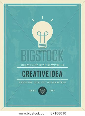 Vintage Poster For Creative Idea