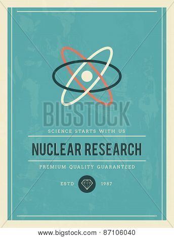 Vintage Poster For Nuclear Research
