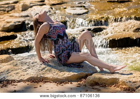 Attractive Model Relaxes On Rocks By A Small River