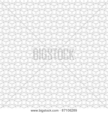 Seamless Modern Abstract Geometric Pattern Dot With Rhombuses. Repeating Background Vector Illustrat