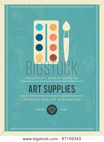 Vintage Poster For Art Supplies