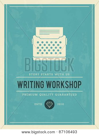 Vintage Poster For Writing Workshop
